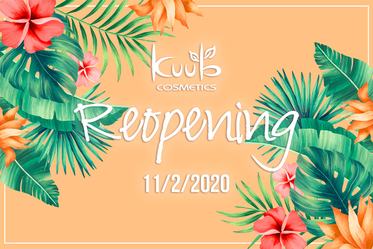 Reopening from Novenber 2nd, 2020